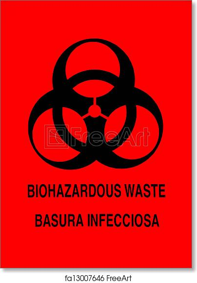 graphic relating to Biohazard Sign Printable known as Free of charge artwork print of Biohazard Caution Indication
