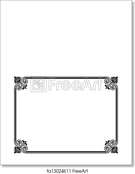 Free art print of Simple black ornamental decorative frame. Vector ...