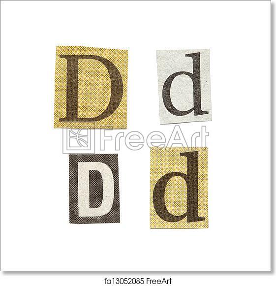 Free art print of newspaper letters set of letters cut out from free art print of newspaper letters spiritdancerdesigns Choice Image