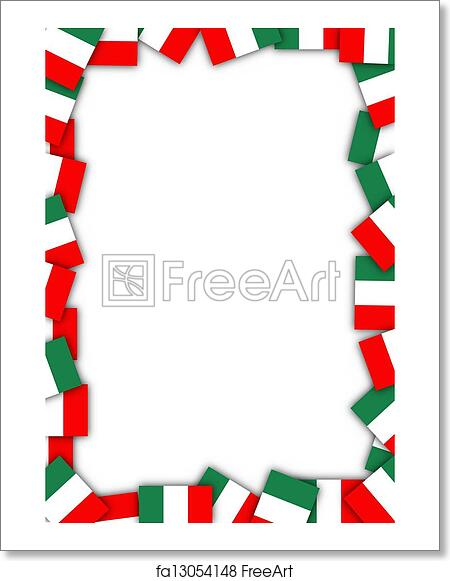 Free Art Print Of Italy Flag Border Illustration Of A Frame Made Of