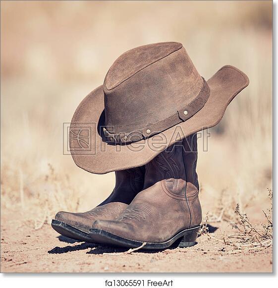 Free art print of Cowboy spirit. Brown cowboy hat and boots outdoor ... 1af221efa5f3