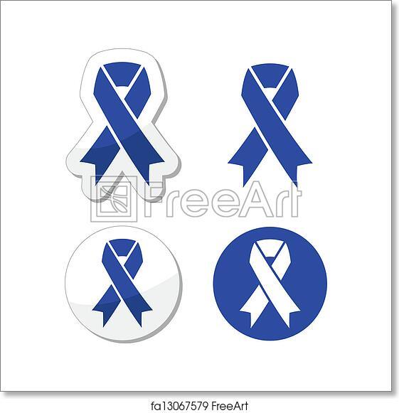Free Art Print Of Navy Blue Ribbon Child Abuse The Internationl