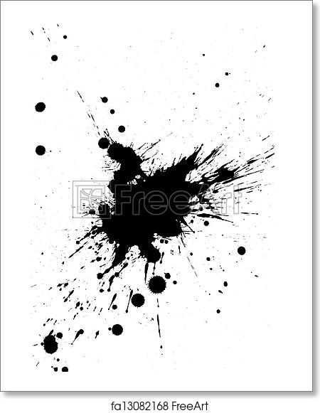 Free art print of Black paint splatter
