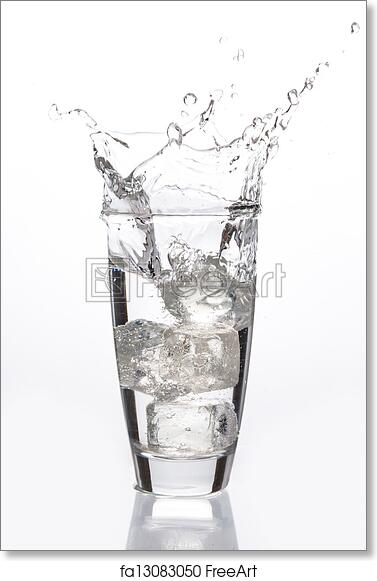 Free Art Print Of Ice Cube Falling Into Glass Ice Cube Falling Into