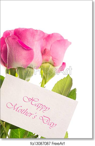graphic relating to Happy Mothers Day Printable Card known as Free of charge artwork print of Joyful moms working day card with purple r