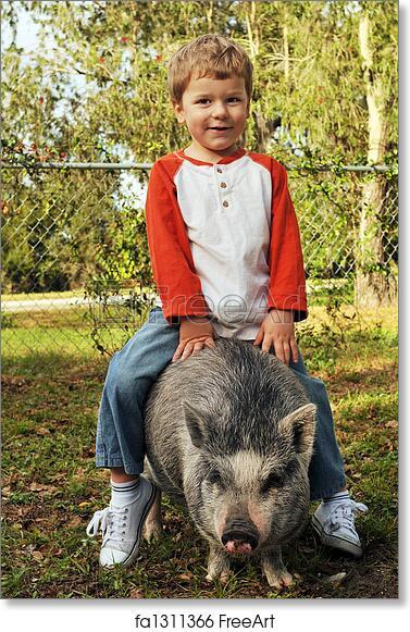 Free art print of A True Piggy-Back Ride