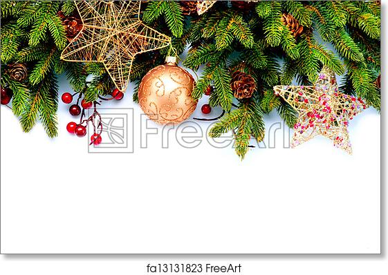 Free art print of Christmas Decorations Isolated on White Background | FreeArt | fa13131823