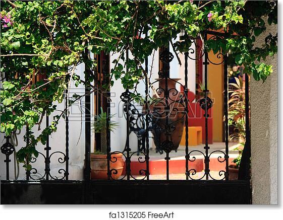 Charmant Free Art Print Of Ornate Iron Gates With Patio