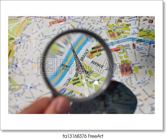 Free art print of Paris tourist map. Paris tourist map closeup ...
