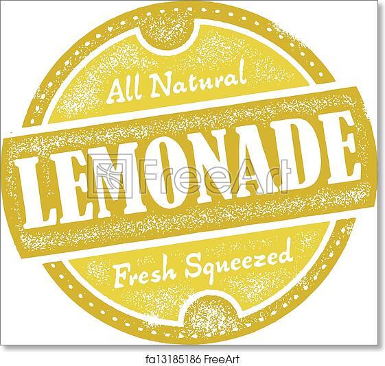 graphic regarding Lemonade Sign Printable named Totally free artwork print of Classic Lemonade Indicator