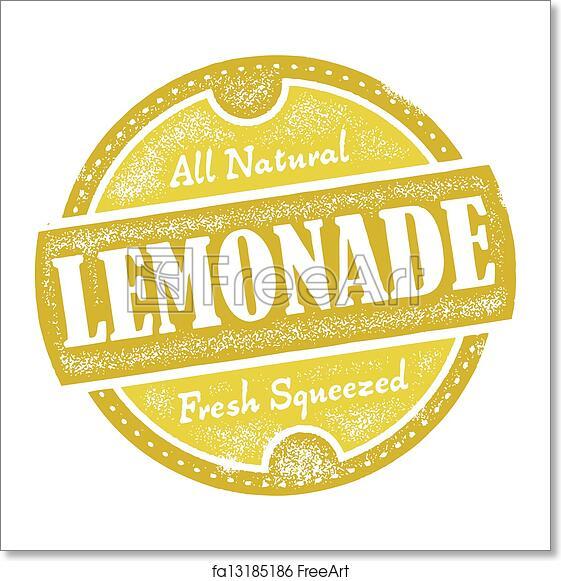 free art print of vintage lemonade sign distressed vector lemonade