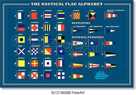 """Nautical // Boat Marine Code 16/"""" X 28/"""" Naval Signal Flag LARGE FLAG N"""