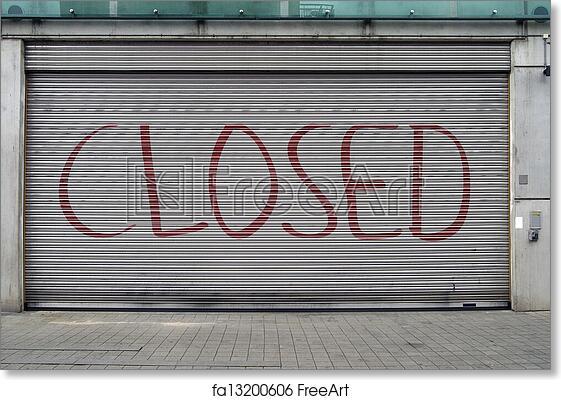 Free Art Print Of Closed Garage Door Close Up Of Very Big Garage