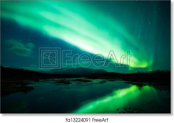 free art print of northern lights in iceland a high resolution