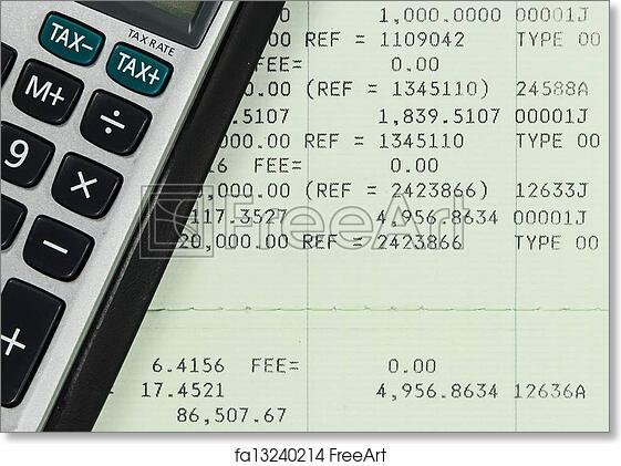 Free art print of Savings Account Passbook with Calculator | FreeArt ...
