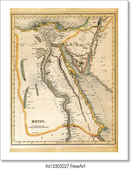 Free Art Print Of An Old Th Century Map Engraved And Printed In - Map of egypt jerusalem