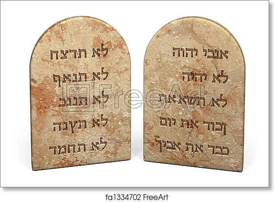 photo about Printable Ten Commandments Tablets identified as Absolutely free artwork print of 10 commandments