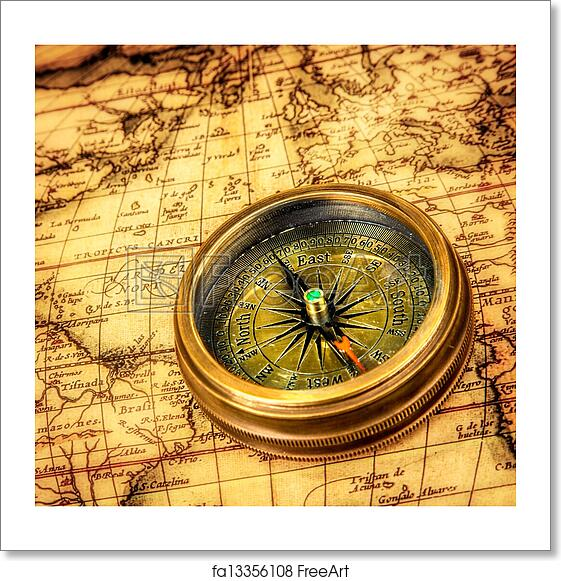 Free art print of vintage compass lies on an ancient world map free art print of vintage compass lies on an ancient world map gumiabroncs Image collections