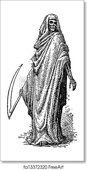 Free art print of Death or the Grim Reaper, vintage