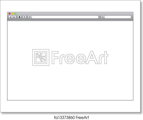 free art print of blank window of internet browser template