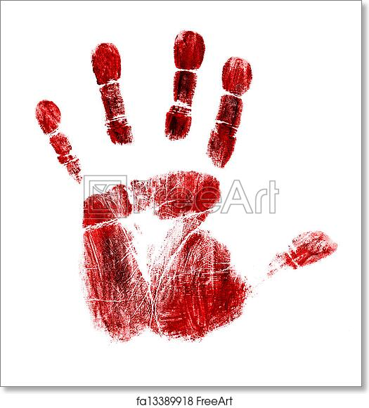 Free art print of Bloody handprint