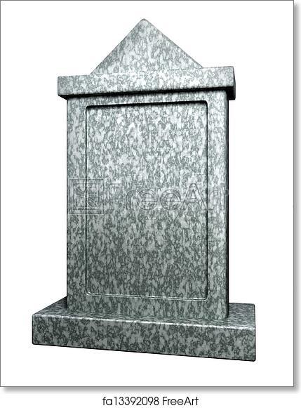 Free art print of Blank gravestone . Blank gravestone isolated on ...
