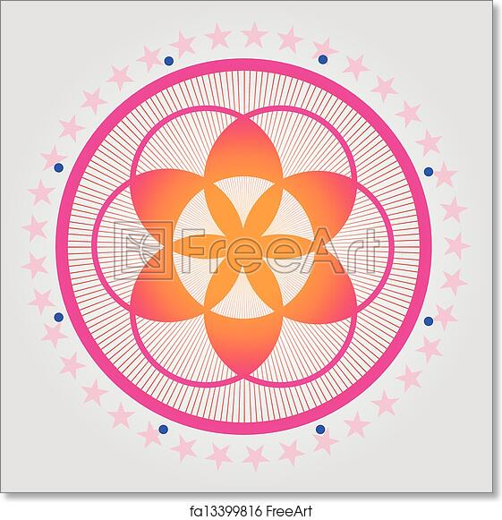 Free art print of Red seed of a flower of life vecto
