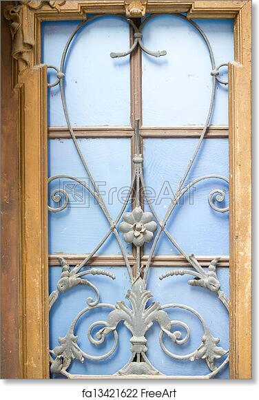 Free art print of Art-Nouveau iron decoration. Art-Nouveau facade ...