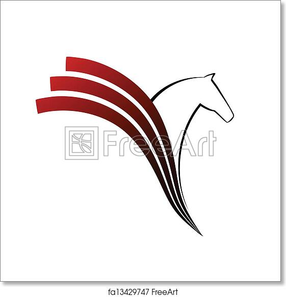 Free Art Print Of Horse Symbol Vector Horse Symbol Vector Abstact