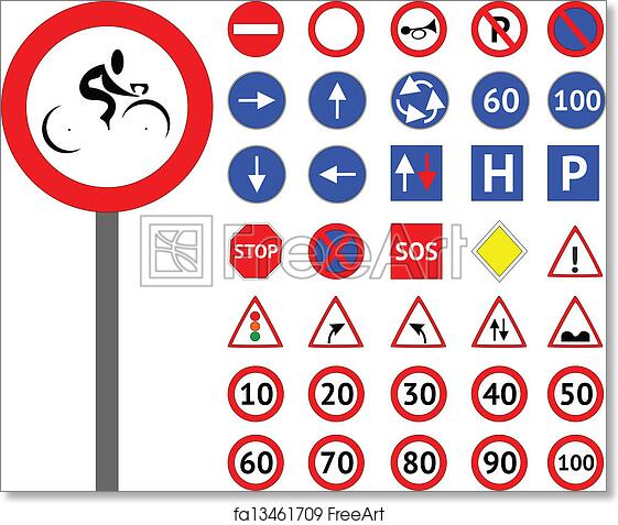 picture about Printable Road Signs known as No cost artwork print of Highway signs and symptoms