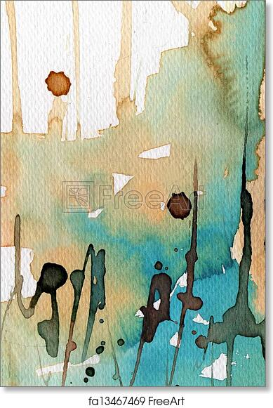 photo about Printable Watercolor Paper titled Free of charge artwork print of Inventive heritage watercolor upon watercolor paper