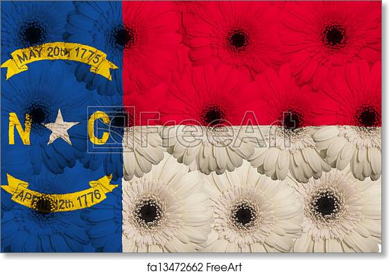 Free Art Print Of Stylized Flag Of Us State Of North Carolina With
