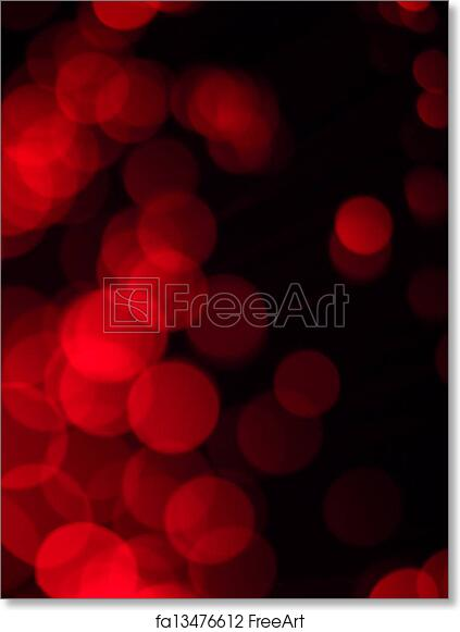 Free Art Print Of Abstract Red Lights Pattern