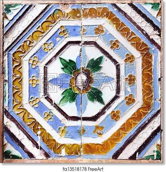 Free Art Print Of Moorish Ceramic Tiles Moorish Ceramic Tiles In
