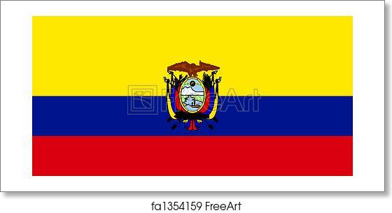 Free Art Print Of Flag Of Ecuador Flag Of Ecuador National Country