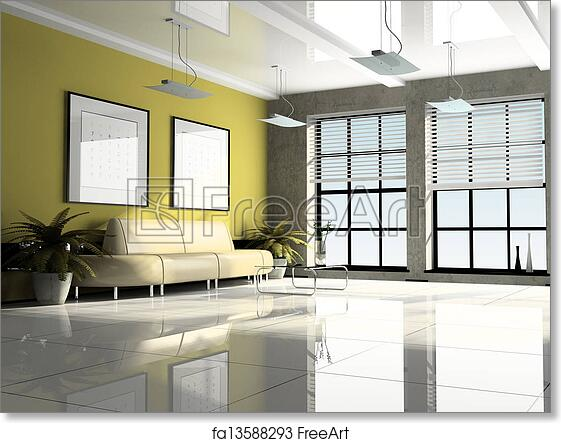 Free Art Print Of Office Interior 3D Rendering
