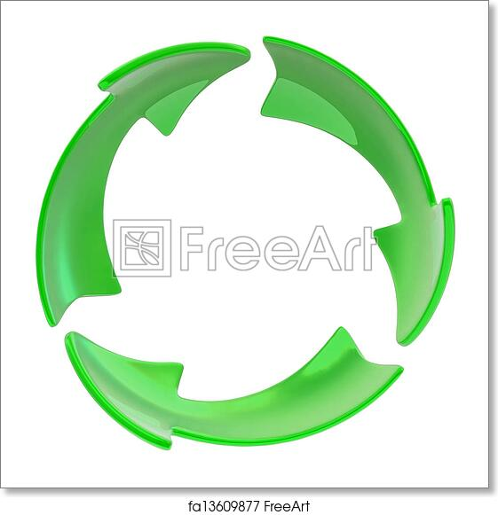 Free Art Print Of Recycle Symbol 3d Green Symbol Of Recycle And