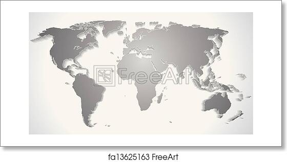 Free art print of 3d world map silhouette vector graphics freeart free art print of 3d world map silhouette vector graphics gumiabroncs Gallery