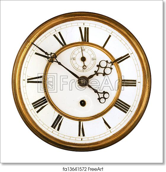 Free art print of Antique Clock Face isolated on whit