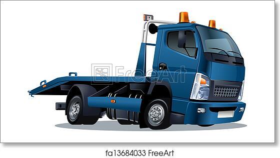 Free Art Print Of Cartoon Tow Truck