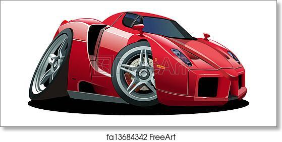 Free Art Print Of Cartoon Sport Car Cartoon Sport Car Isolated On