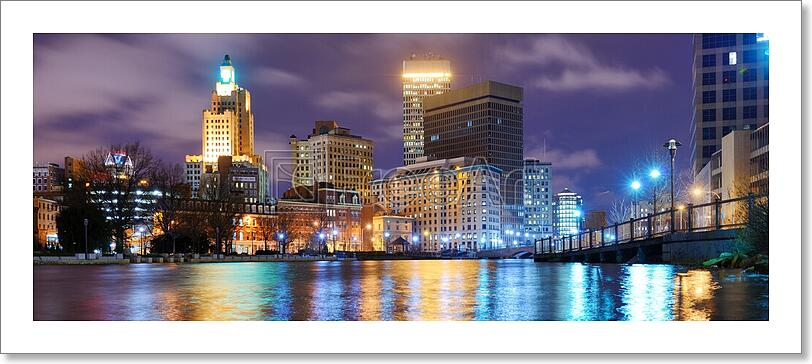 Providence Rhode Island Skyline Art Print Home Decor Wall Art Poster G Ebay