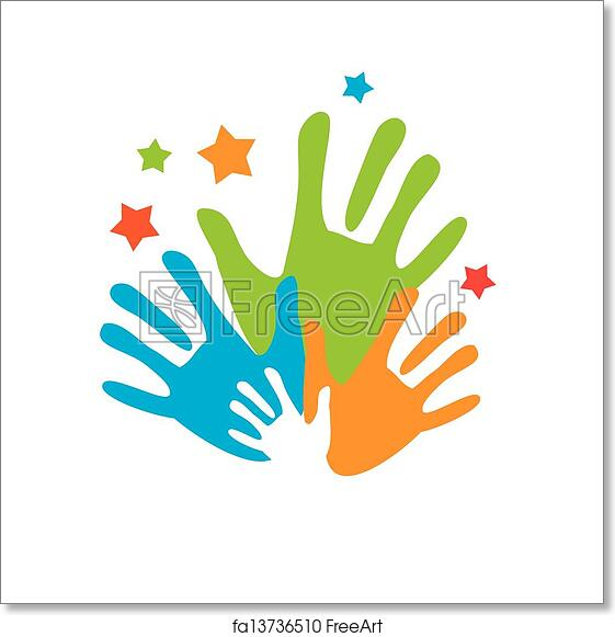 Free Art Print Of Palm Unity Sign Of Friends Vector Symbol Uniting