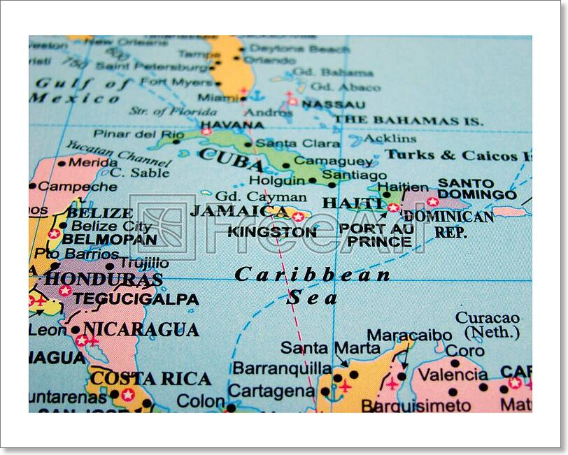 It's just a photo of Transformative Printable Map of the Caribbean