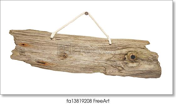 Ordinaire Free Art Print Of Isolated Driftwood Wooden Sign Board On String