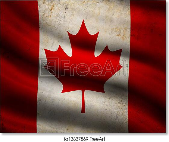 Free Art Print Of Grunge Canada Flag Freeart Fa13837869