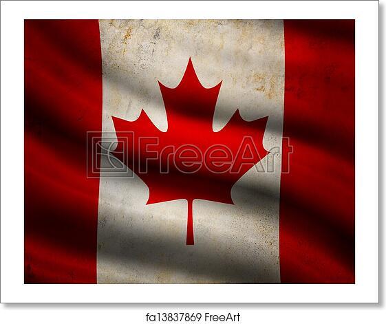 Free Art Print Of Grunge Canada Flag