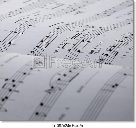 picture relating to Free Printable Drum Sheet Music titled Totally free artwork print of Sheet new music historical past