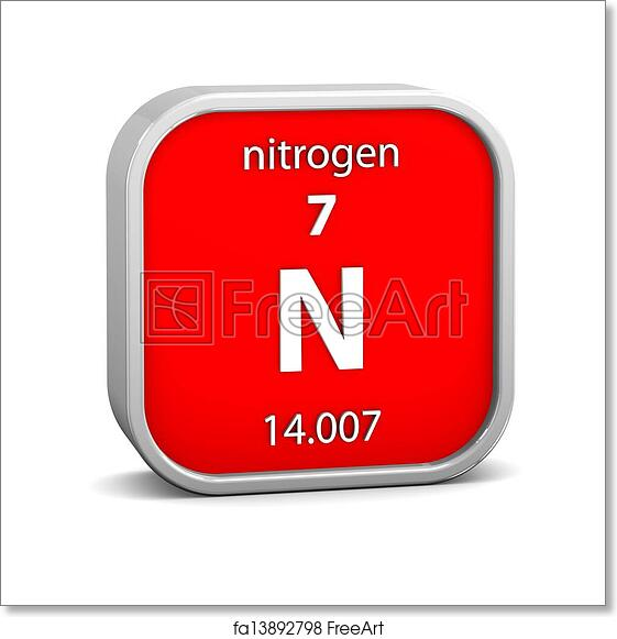 Free Art Print Of Nitrogen Material Sign Nitrogen Material On The