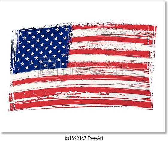 free art print of grunge usa flag usa national flag created in